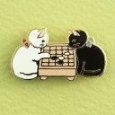 【ポタリングキャット】【ピンズコレクション 囲碁 猫】(PZ-35)ソフト七宝タイプの魅力のピンズ