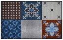 クリーンテックス・ジャパン wash + dry Portugal blue-grey No:D007B Size:75 x 120