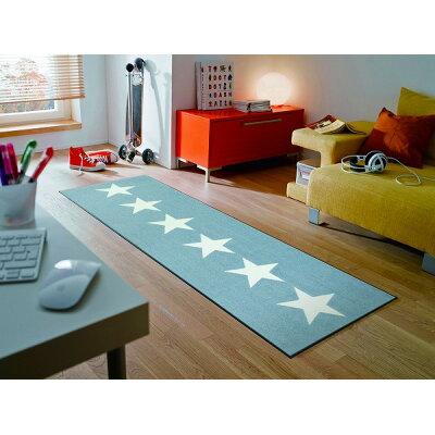 屋内屋外兼用 ウォッシュ&ドライマット stars grey   c022c