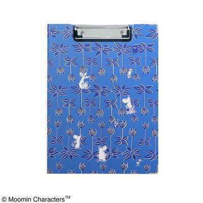 ムーミン クリップボード同柄maze ブルー
