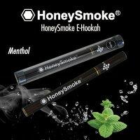 ハニースモーク 使い切り電子タバコ メンソールフレーバー 木目調 500回分(1コ入)