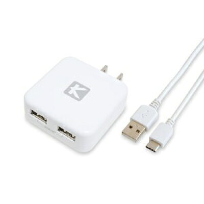 USB Type-C 充電器 android 2ポート 2.4A