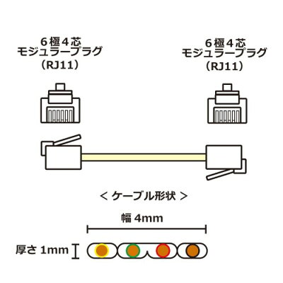 タローズ モジュラーケーブル CMJ-F01BG