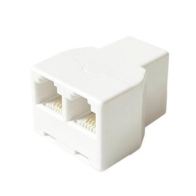 タローズ モジュラーケーブル2分配延長アダプタ 6極4芯/6極2芯両用 CMJ-AD2E