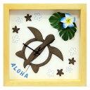 K-ART 掛時計 クロック Hawaiian Clock Honu/Flower-NA/Blue KART-DC-1809