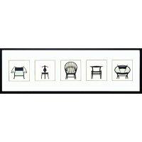 Modern design studio《Chair/ITH-14043》5連横長額装品