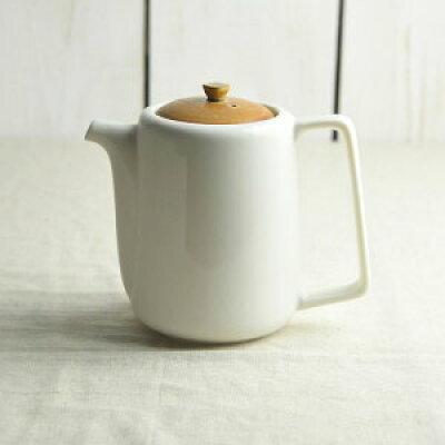 美濃焼 深山 bico 切立ちティーポット スーニャ型 カラメルブラウン 茶こし付き