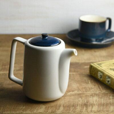 北欧ブルー 切立ちティーポット スーニャ型 茶こし付き56.5h