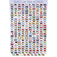 FLAGS OF THE WORLD/世界の国旗《PPS-096》ポスター