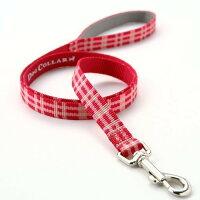 中型犬用リードメタルビードッグドッグカラー カジュアルリード Mサイズ 色:YU チェックピンク