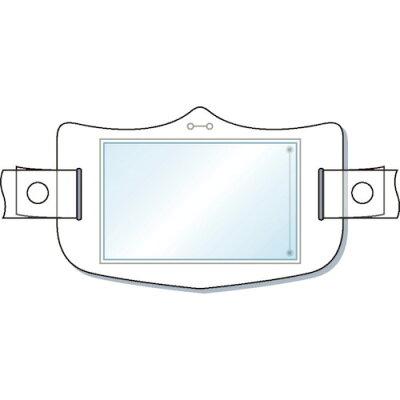 つくし e帽章 透明ポケット付き 白 ヘルメット用樹脂バンド付 (1枚) 品番:WE-121H