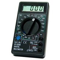 小型デジタルマルチテスターDT-830Bダイオード、トランジスタHFEテスト機能付(きらく屋)