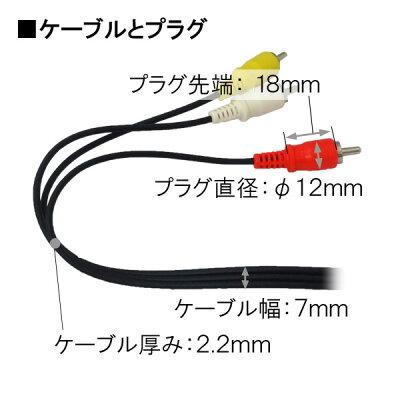 スリムタイプAVケーブル 1.1m 3ピン-3ピン OUT-AV11