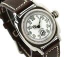 ヴァーグウォッチ 腕時計 レディース スモールセコンド クッサン ホワイト×ダークブラウン レザーベルト VAGUE WATCH Co. CO-S-003