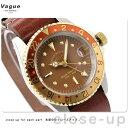 ヴァーグウォッチ 腕時計 メンズ GMT ブラウン ジーエムティー ブラウン レザーベルト VAGUE WATCH Co. BG-L-001