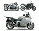 BMW K1200R Two Brothers Racing V.A.L.E. スリップオンマフラー ブラックシリーズ