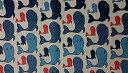 リトアニア製 CARINO 大判キッチンクロス 47×70cm ホエール 4744/1