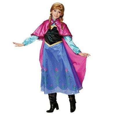 コスチューム ディズニー 衣装 アナ  アナと雪の女王  大人用  ウィッグ付