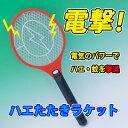 電撃 電気のパワーでハエ 蚊を撃退 ハエたたきラケット 電撃殺虫ラケット BIG 全長51cm ネット部22.5cm×19cm
