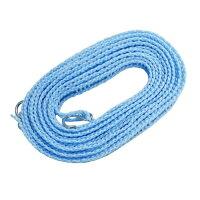 横ずれ防止 洗濯物干しロープ ハンガーストップ 5m ブルー