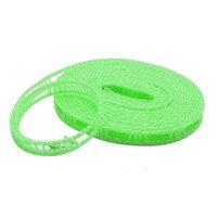 横ずれ防止 洗濯物干しロープ ハンガーストップ 5m グリーン