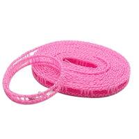 横ずれ防止 洗濯物干しロープ ハンガーストップ 5m ピンク