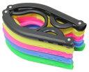 携帯用 折りたたみハンガー 5本 + 洗濯ロープ ハンガーストップ 5m 1個セット