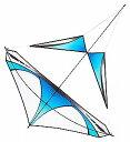 (PRISM:プリズムカイト/凧)ZERO G ゼロG:cerulean セルリアン