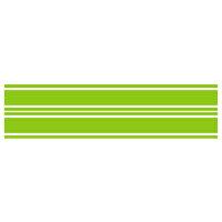 MDF エムディーエフ ステッカー・デカール ライングラフィック ストライプタイプ サイズ:ラージ 長さ:550mm 幅:67mm・
