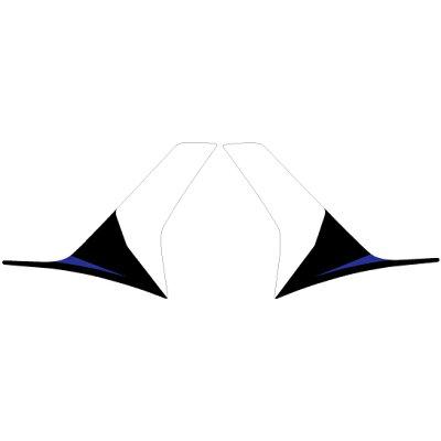 MDF エムディーエフ ステッカー・デカール 専用グラフィック アンダーカバーセット カラー:ブルー NMAX 16-