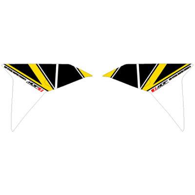 MDF エムディーエフ ステッカー・デカール 専用グラフィック フロントサイドセット カラー:パンプキンイエロー MT09 TRACER 2015-