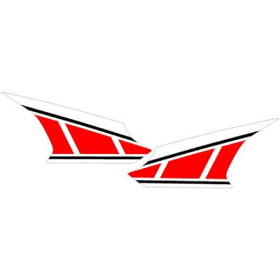 MDF エムディーエフ ステッカー・デカール 専用グラフィック サイドカバーセット カラー:レッド MT09 TRACER 2015-