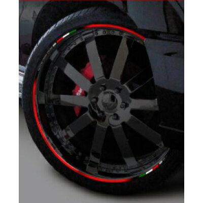 MDF エムディーエフ ステッカー・デカール トリコローレ リムストライプ カラー:レッドタイプ サイズ:23インチ