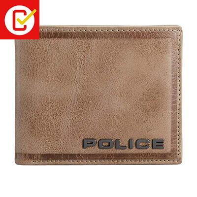 policeポリス edge 二つ折り財布 pa-58000-25キャメル 'メンズ