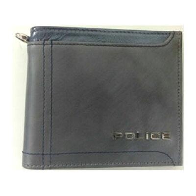 POLICE ポリス PA-58300-60 二つ折り財布 AXIS アクシス GLAY グレー 革 レザー