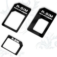 NanoSIM MicroSIM SIM 変換アダプタ 3点セット For iPhone 5 4S 4 NanoSIM→SIM or MicroSIM MicroSIM→SIMカード