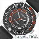NAUTICA デイト スポーツ アクティブ NST16 SPORT ACTIVE メンズ/ブラック オレンジ A12637G アナログ