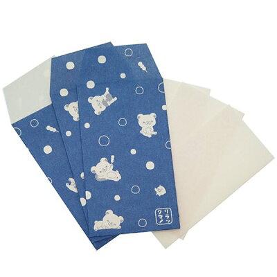 リラックマ ポチ袋 和紙豆ぽち水玉 7.8×3.7c 玉金封 キャラクターグッズ