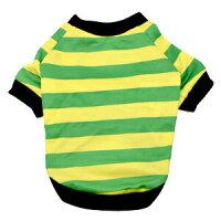 なごみ クールウェア 20ボーダーSSTシャツ 5 グリーン