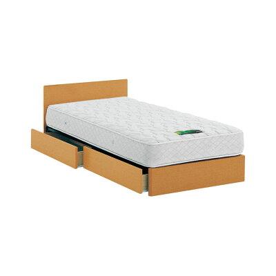 ASLEEP ベッドフレーム ワイドダブルサイズ ナチュラル 引出し付き チボー FYAH35DC ベッド アイシン精機
