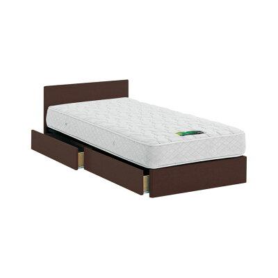 ASLEEP ベッドフレーム セミダブルサイズ ダークブラウン 引出し付き チボー FYAH42DC ベッド アイシン精機