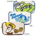 トイストーリー ポーチ キャンバスマルチポーチ/サガラ刺繍 ディズニー