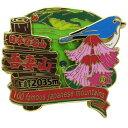 日本百名山 ピンバッジ 2段 ピンズ 吾妻山 エイコー コレクションケース入り