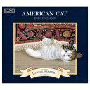 ラング LANG 輸入 2021 カレンダー アート 壁掛け Lowell Herrero American Cat カントリー ネコ インテリア 令和3年 暦