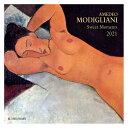 海外 輸入版 壁掛け 2021年 アートカレンダー モジリアニ MODIGLIANI sweet moments TUSHITA 絵画 名画 インテリア 令和3年 暦
