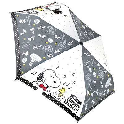 折りたたみかさハッピーダンス スヌーピー 折畳 耐風 傘 ピーナッツ ジェイズプランニング 53cm 安全ろくろ採用