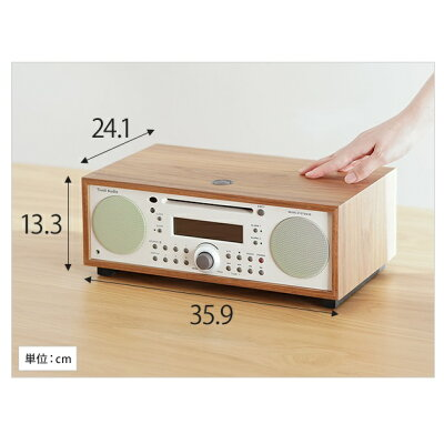 チボリオーディオ テーブルラジオ ミュージックシステム BT クラシックウォールナット ベージュ