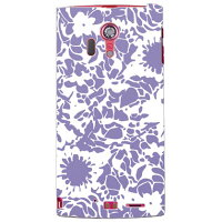 docomo ARROWS X LTE F-05D用スマホカバー(ハードケース) kion (flower mediumpurple) / for ARROWS X LTE F-05D/docomo (SECOND SKIN)