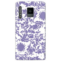 kion (flower mediumpurple) / for ELUGA power P-07D/docomo (SECOND SKIN)