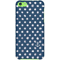 (au iPhone 5c専用)SECOND SKIN全面プリントケース(uistore (Dot (Anchor)